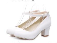 Frauen-absatzschuhe 2016 Sexy Damen sandalen Nude Pumps Riemchen Schuhe Starke Ferse Alias Partei Hochzeit Brautschuhe