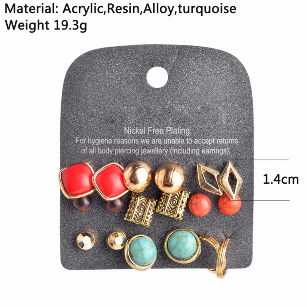 Marte & Joven New Fashion Կանաչ Քարի Ականջօղեր - Նորաձև զարդեր - Լուսանկար 3