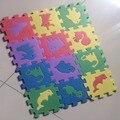 10 Pcs 12 CM * 12 CM Ambientalmente EVA puzzle de Espuma Esteira do Jogo animal Puzzle Tapetes Bebê Tapete Pad brinquedos Para As Crianças
