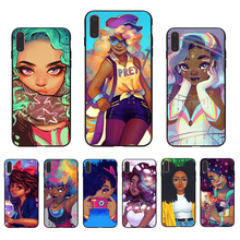 IMIDO Afro Girls Soft silicone Half-wrapped Transparent case For Iphone7 8 7PLUS 8PLUS X XS XR XSMAX 5S 6 6S 6PLUS 6S PLUS shell цена и фото