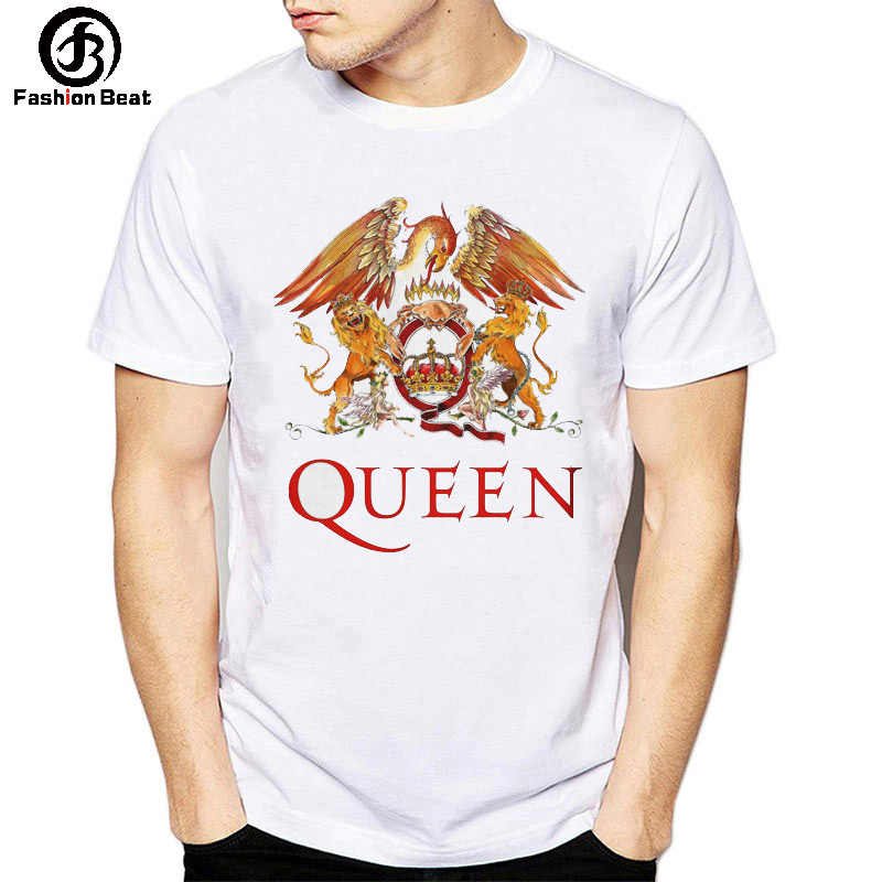 0b0f86bb Queen ROCK BAND T Shirt Freddie Mercury Phoenix Lion Animal T-shirt Music  Champion Tshirt