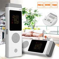 Formaldehyde Detector Detects HCHO TVOC PM2.5 Real Time Testing Record Analyzed USB Charging Monitor Air Quality for Home Office