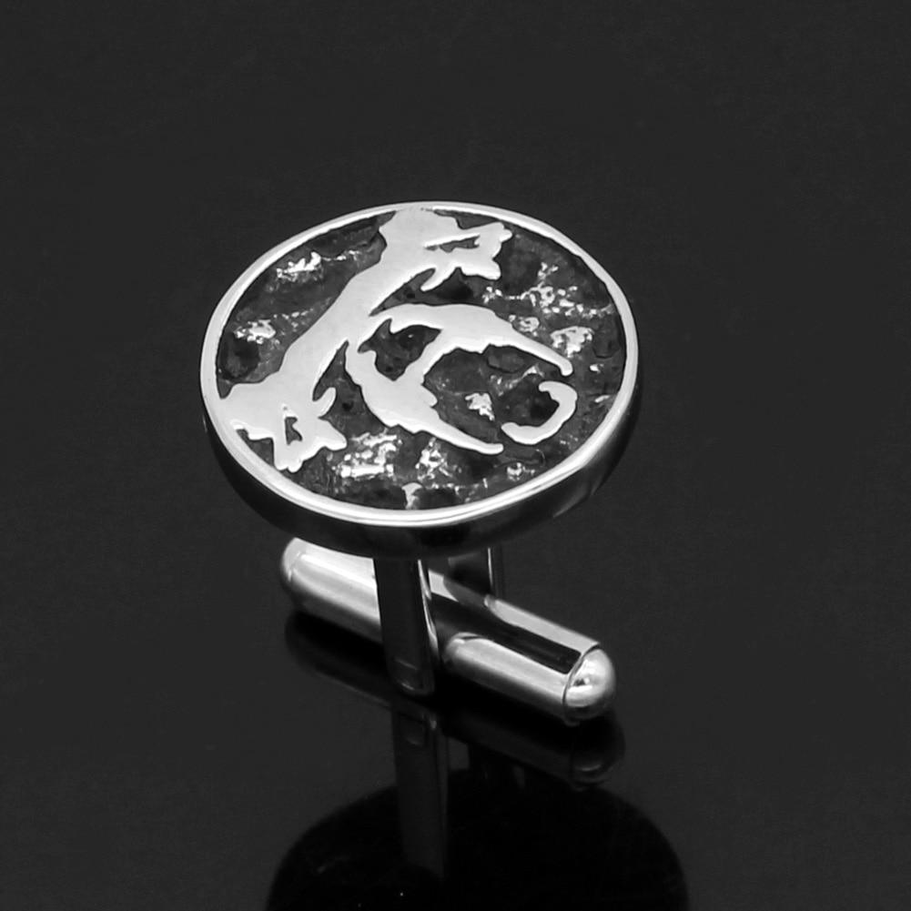 Stainless steel Nordic Viking Amulet Rune small Bear Cufflinks with valknut gift bag