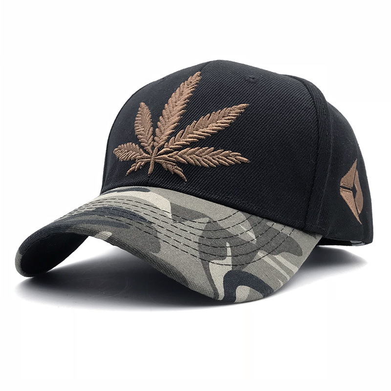 New Fashion Embroidery Maple Leaf   Cap   Weed Snapback Hats For Men Women Cotton Swag Hip Hop Fitted   Baseball     Caps