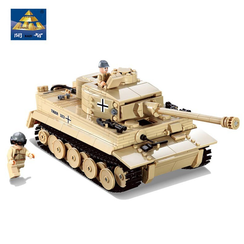 цена на 995pcs Legoings Military Technic City Building Blocks German King Tiger Tank Model Enlighten Bricks Building Toys for Children