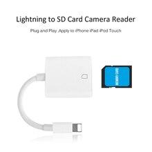 Adaptador de Leitor De Cartão SD Câmera SZBITC Compatível Kit OTG Cabo de Dados para o Telefone Móvel 8 7 6 6 S 5S/iPad