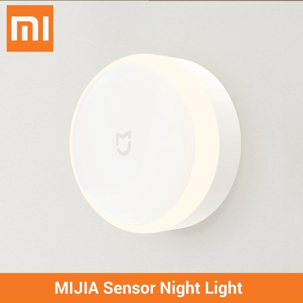 Xiaomi Mijia LED pasillo luz de la noche la lámpara inteligente debajo de la luz del Gabinete xiaomi cuerpo Sensor de movimiento de luz de la lámpara de Control remoto