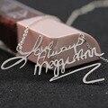 Подпись имя ожерелье Персонализированные рукописные Пользовательское имя Solide серебряное Ожерелье Мемориал рождество Оптовая