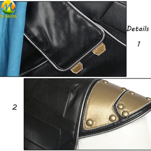 Image 4 - トールラグナロクコスプレ衣装トール 3 Valkyrie 女性のための革のマントトップパンツカスタムメイド