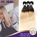 Vip Beauty Hair Malaysian Straight Virgin Human Hair 1B 613 Ombre Two Tone Blonde Hair Extension Wholesale 4 Bundles Ombre Weave