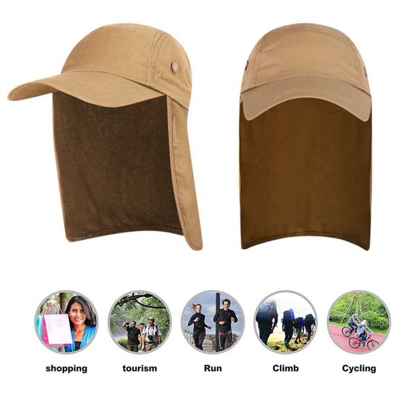2019 New Outdoor Sun Protection Four-eyed Cape Hat Fisherman Hat Unisex Fishing Cap Outdoor UPF 50 Sunscreen Suitable For Hiking