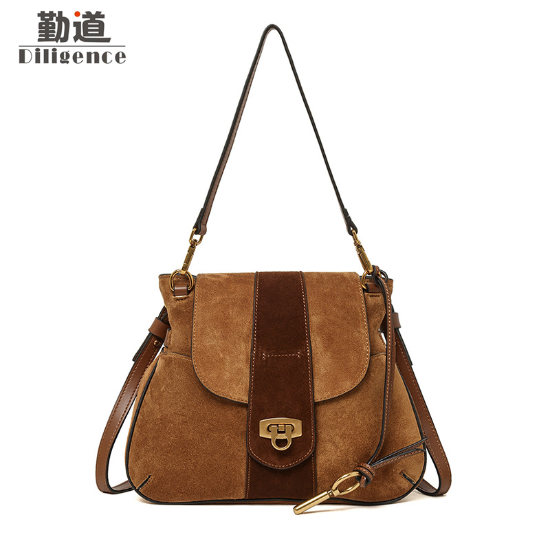 Genuine Leather Shoulder Bags For Women Vintage Handbags Fashion Famous Luxury Brand Designer Style Crossbody Messenger Bag цена