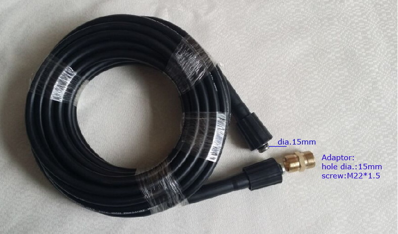 hose with connector core diameter 15mm Two ends are M22*1.5*15mm  Car washer hose 400Bar 5800PSI high pressure spray water 7 5m car washer hose with gun 40mpa 5800psi high pressure washer hose