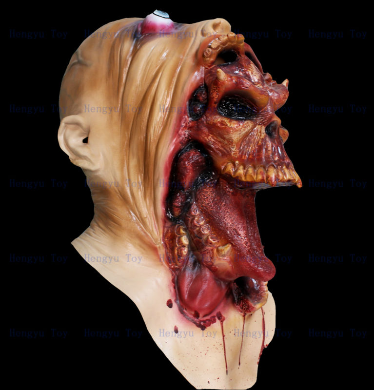 2014 High Quality Horror Halloween Latex Mask Eco-friendly Deluxe Quality Devil Ghost Mask image