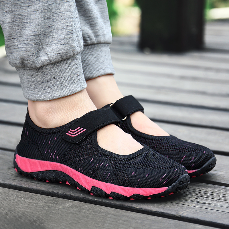Women Shoes 2019 Summer Vulcanized Shoes Breathable Air Mesh Sneakers Tenis Feminino Soft Bottom Flat Women Casual Shoes Silver in Women 39 s Vulcanize Shoes from Shoes