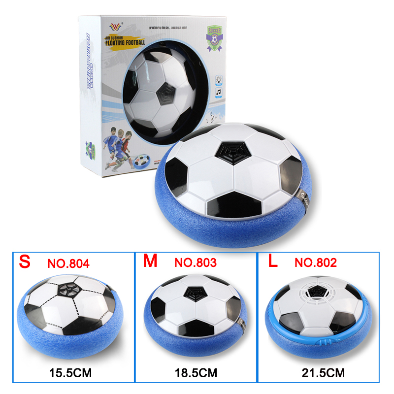 LED Flashing Light Air Power Soccer Disc Gliding Hover Football Game Indoor Outdoor Toys Ball for Kids Xmas Gifts