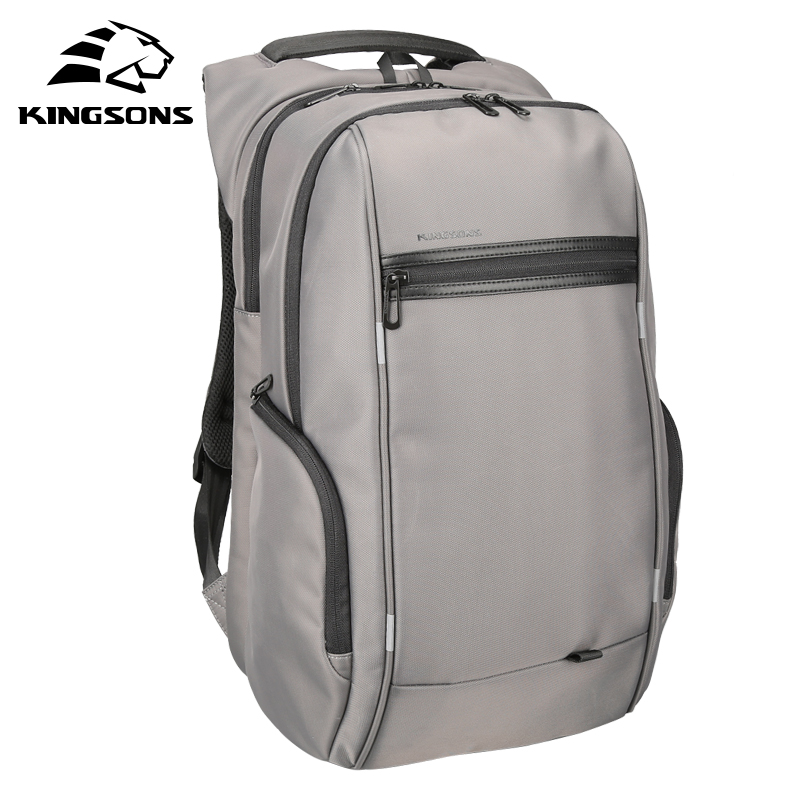 Kingsons Brand External USB Charge Computer Bag Anti theft Notebook Backpack 15/17 inch Waterproof Laptop Backpack for Men Women-in Backpacks from Luggage & Bags    2