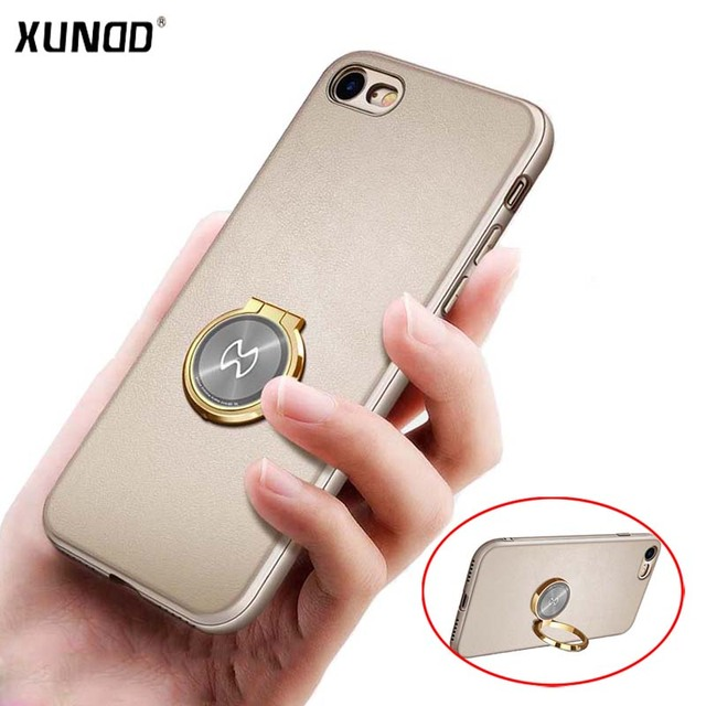 more photos 27cda 26ce5 Xundd Luxury Case for Apple Iphone 8 8 Plus Soft TPU + Hard PC Back Cover  for Iphone 7 7 Plus Case Fit with Magnetic Car Holder-in Fitted Cases from  ...