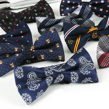 Men Polyester Camo Tartan Grids Paisley Flowers Polka Dots Bow Ties TSBWT0018