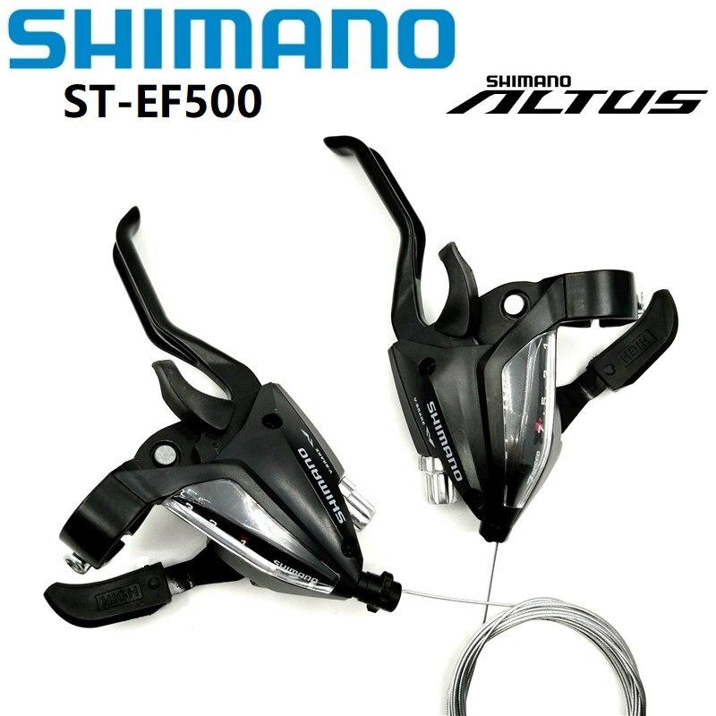 SHIMANO EF500 EF51 DIP Conjugada Desviador Alavanca & 3 Velocidade Alavanca Do Freio Esquerda Direita 7 Velocidade Mountain Bike 21 shifter velocidade