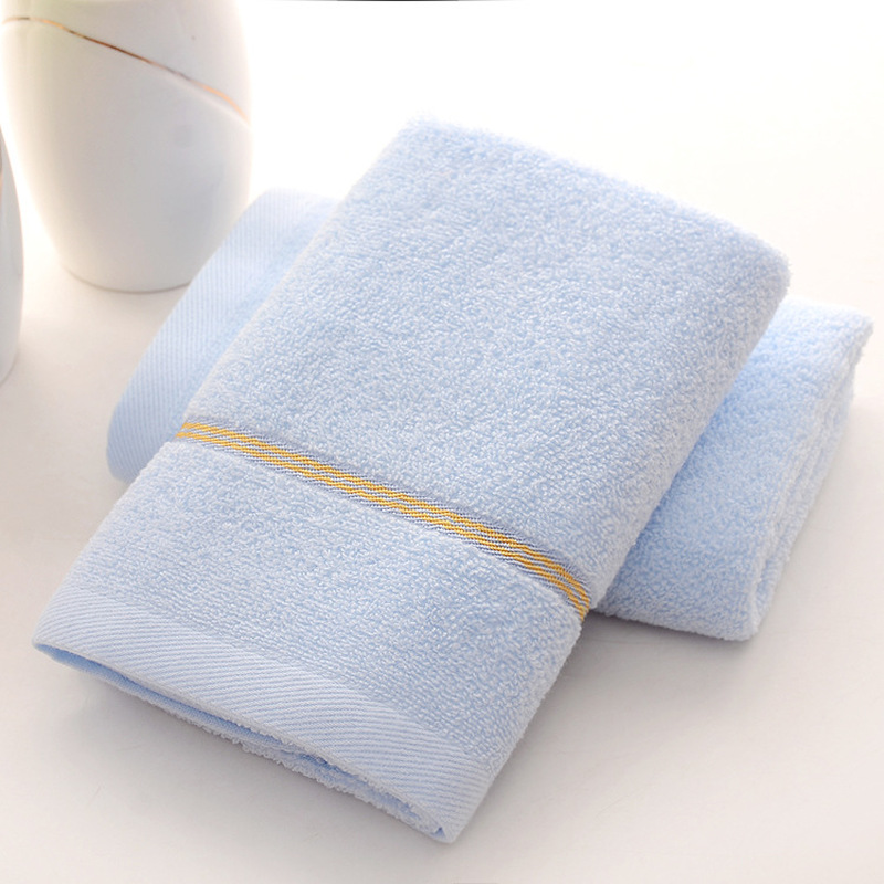 33x73cm High Quality 100 Cotton Absorbent Solid Color Soft Comfortable Top Grade Men Women Family Bathroom Hand Towel blue pink in Face Towels from Home Garden