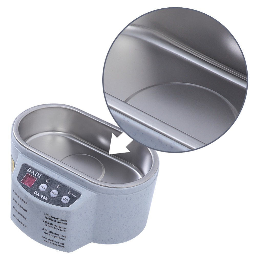Mini Ultrasonic Cleaner Made Of Stainless Steel Material For Jewelry Glasses And Watch 9