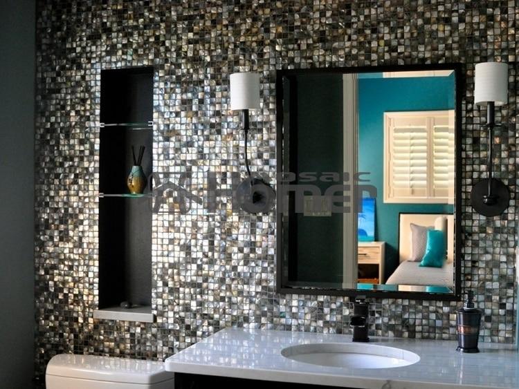 fekete gyöngyház csempe luxus csempe a konyha backsplash és a - Lakberendezés