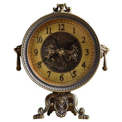 Ameublement bureau pendule bureau alarme rétro bureau chambre métal Vintage horloge Snooze fonction décoration Table horloge LY457