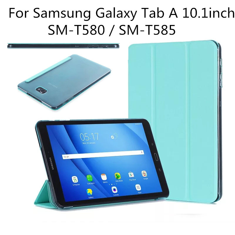 Ultra Slim Smart-shell Stand Cover with Translucent Frosted Protector for Samsung Galaxy Tab A 10.1 Inch SM-T580 SM-T585 Tablet аксессуар чехол samsung galaxy tab a 7 sm t285 sm t280 it baggage мультистенд black itssgta74 1