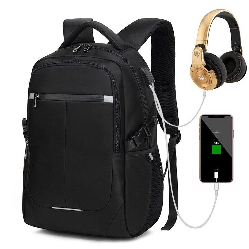 Hommes sac à dos ordinateur portable 15.6 pouces sacs d'école adolescent multifonction USB charge mâle voyage sac à dos Anti voleur hommes femmes sac à dos