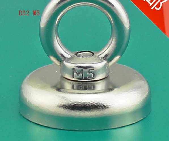 Hot sale !! 1pcsnew magnet D32mm*30mm M5 Neodymium Iron Boron Strong Magnet Circular Rings Salvage 25kg D32 x 30mm huter r 220