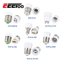 EeeToo Led Lamp Base E27 Socket Conversion Lamp Holder for Light Bulb Fireproof Material G9 GU10 B22 E27 E14 Adapter For Home(China)