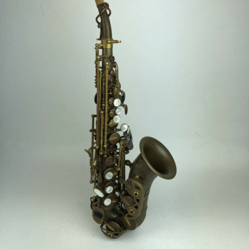 RODWARE античный Сопрано саксофон Bb изогнутый Sax High F # с чехлом