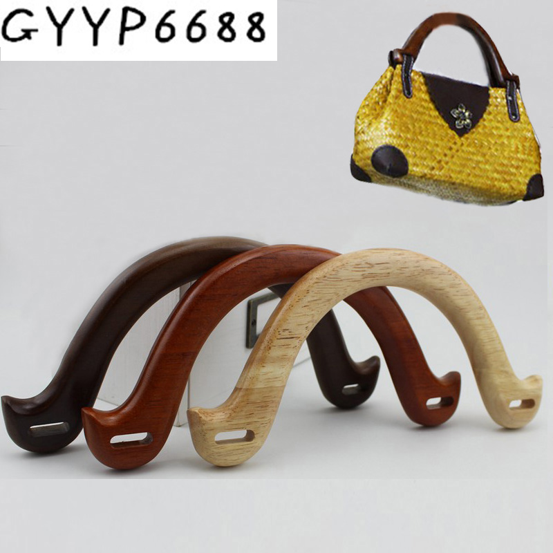 2pcs 30pcs 4 Colors Customize Own Wooden Purse Bag Handle Solid Wood Handles For Repair Handmade Bow And Arrow Bag Handle Shape