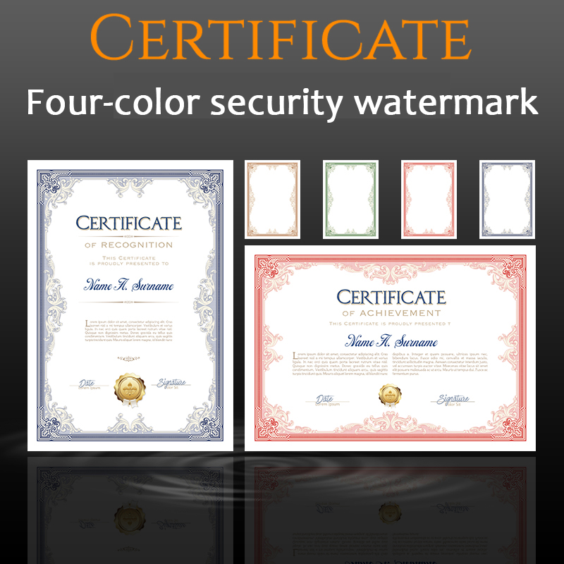 CUCKOO 1pcs Certificate Creative Appointment Letter Of Authorization Letter Training Ending Equity Investment A4 Core Blank