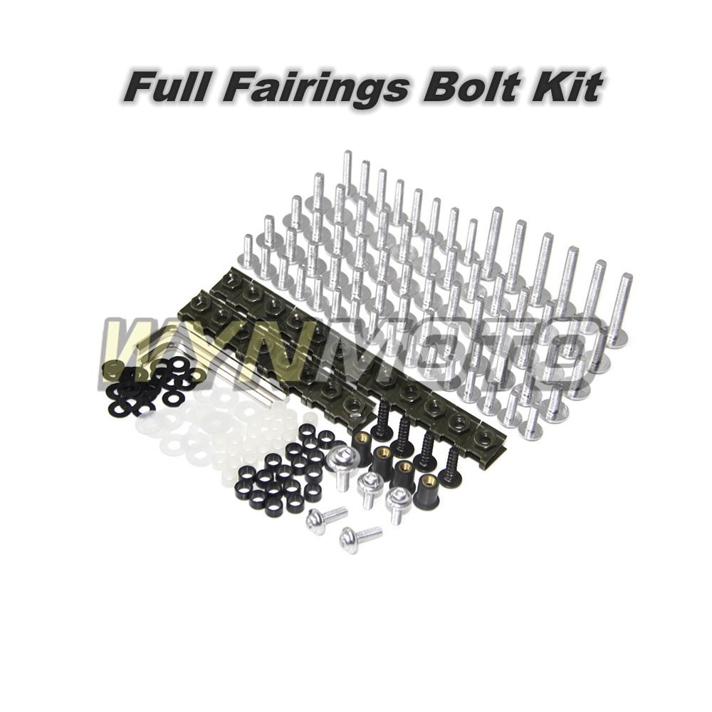 Aluminum Fastener Motorcycle Full Fairings Screws For