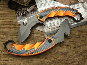Image 5 - Lcm66 karambit faca dobrável, faca de raposa com garra csgo presente selva para acampamento ao ar livre, batalha autodefesa