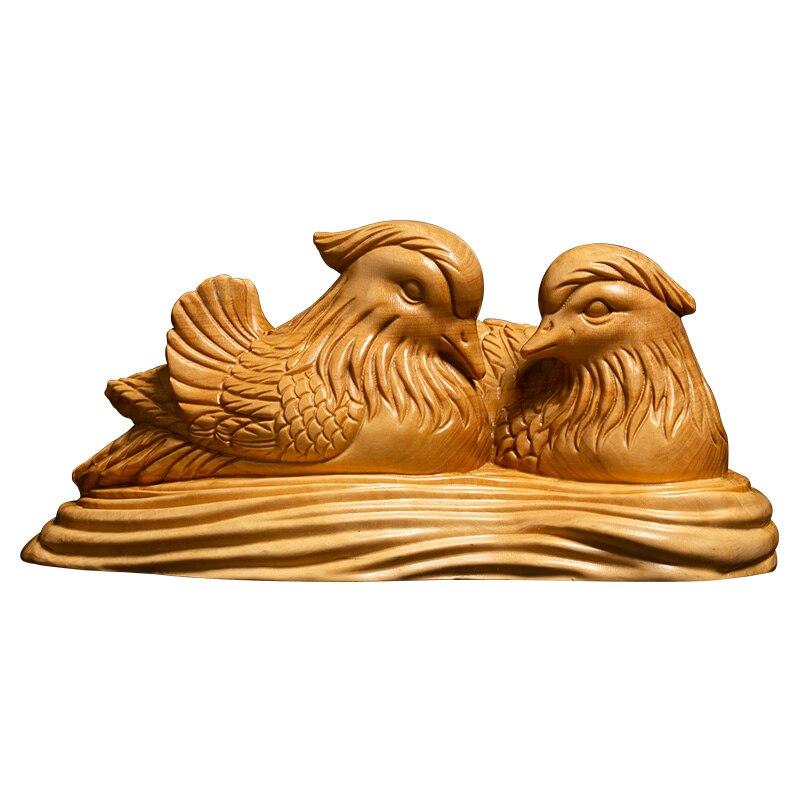 Une paire d'oiseaux de mariage cadeaux oiseau sculpté chambre Feng Shui décoration de vie, artisanat folklorique