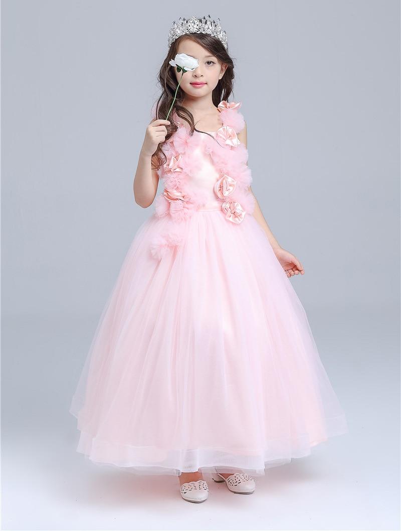 Free Shipping Retail Korea Girl Dresses Children Dress Party  Summer Princess Baby Girl Dresses Wedding Dress Birthday 8506 2017 free shipping hot retail