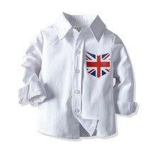 HI&JUBER 2019 Kids Baby Boys Tops Shirt Long Sleeve cotton Turn-down Collar Children Spring Autumn  Clothing