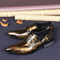 Ntparker 2016 New Pointed Toe Men's Dress Shoes Men British Style Retro Tide Shoes Brown Business Shoes for Men 38-46