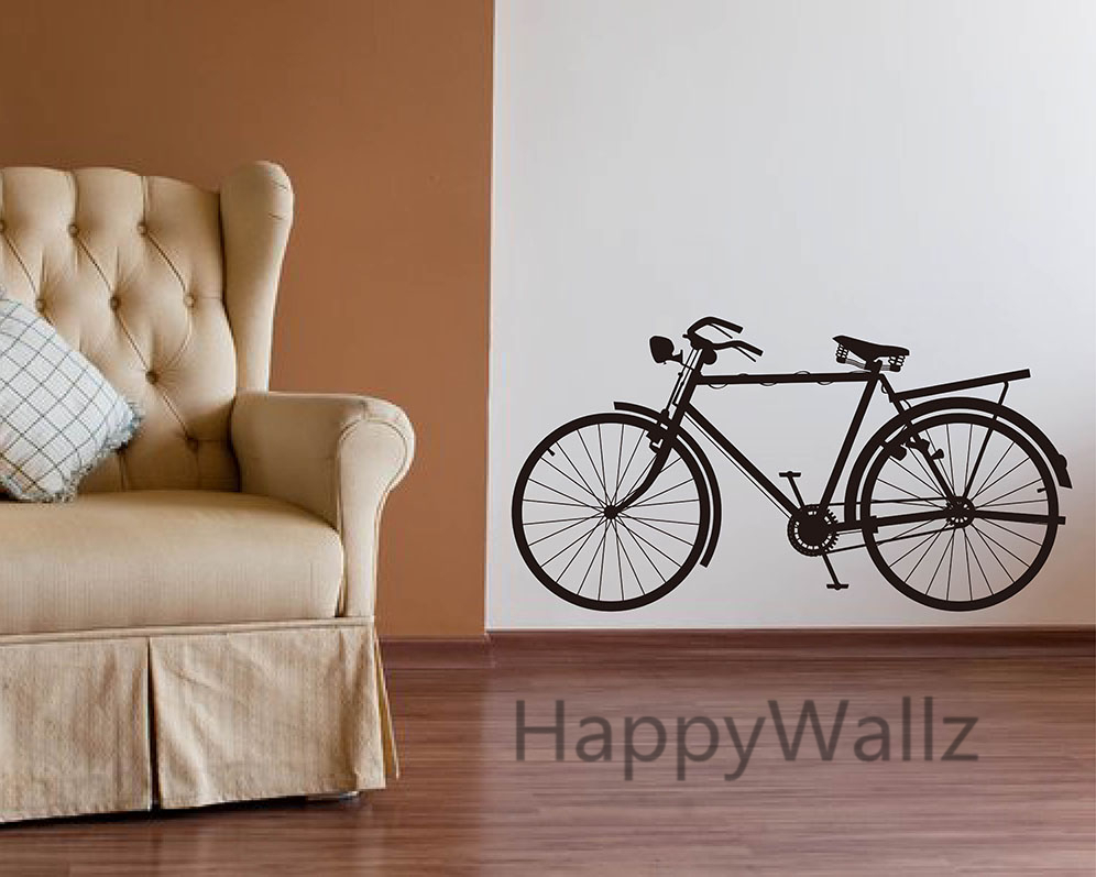 Bike wall sticker modern bicycle wall decal diy decorating modern bike wall sticker modern bicycle wall decal diy decorating modern office vinyl wall art bicycle wallpaper hot sale free shipping in wall stickers from home amipublicfo Choice Image