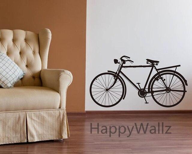 Bike Wall Sticker Modern Bicycle Wall Decal DIY Decorating Modern Office  Vinyl Wall Art Bicycle Wallpaper