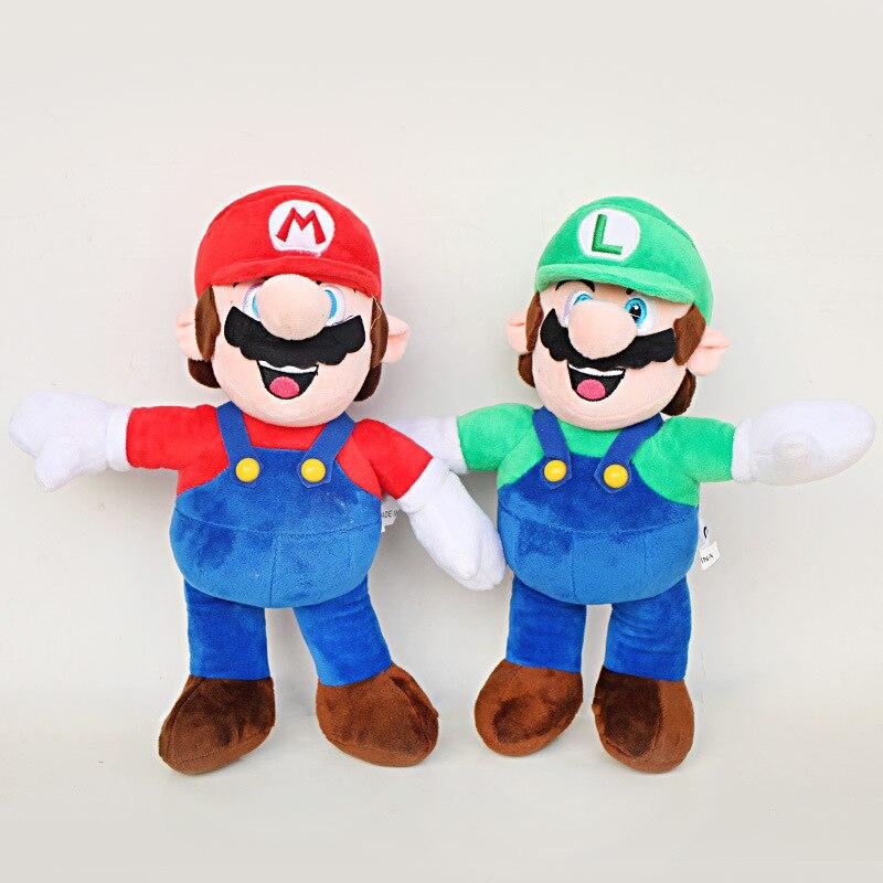 30cm Super Mario Bros Luigi & Mario Plush Toys Doll Super Mario Stand Mario Bros Plush Soft Stuffed Toys Gifts for Children Kids
