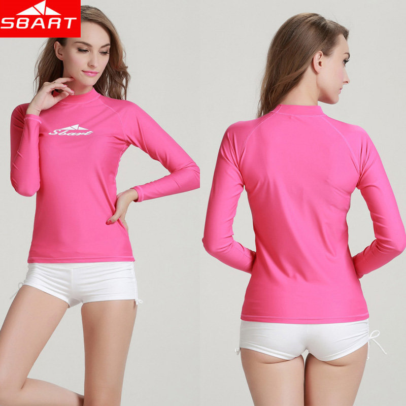 b1402444dc Sbart upf50 lycra surf shirt rashguard windsurf surfing rash guard swimwear  girls wetsuit top long sleeve swimsuit for women on Aliexpress.com |  Alibaba ...