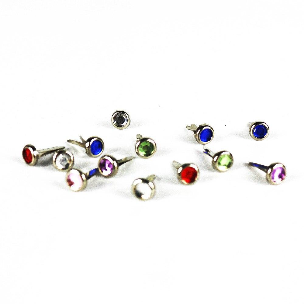 150 teile/los mini nette diamant brads Dia6mm scrapbooking/geschenk ...