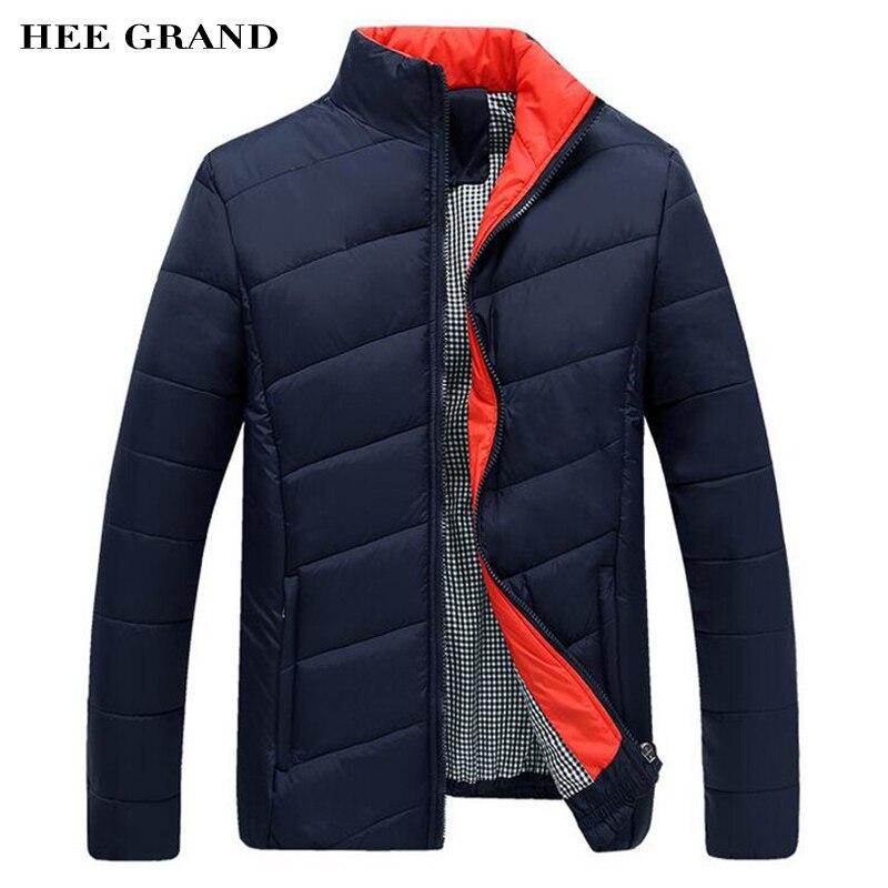 HEE GRAND Hommes de Manteau D'hiver 2016 Nouvelle Arrivée Casual Hommes de Veste De Mode Stand Col M-3XL Taille 4 Couleurs MWM902