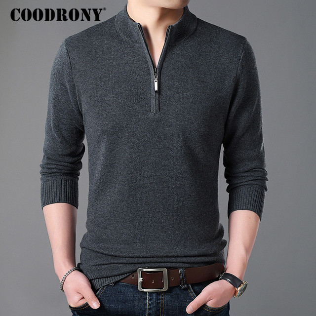 Cashmere Sweater Men Clothes Thick Warm Wool Pullover  2