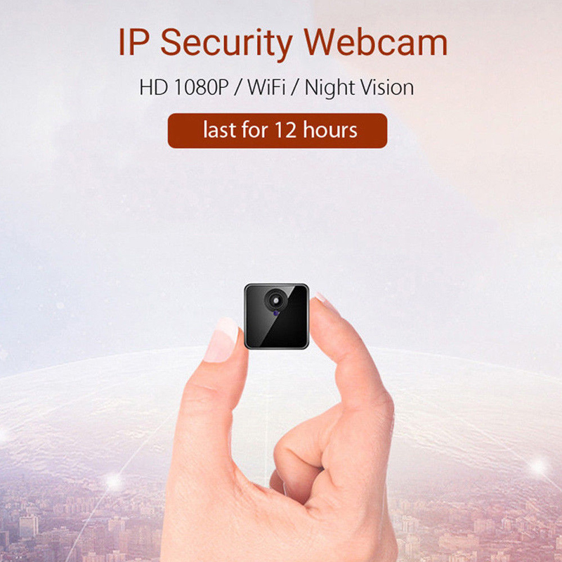 IP camera 8-12H battery Portable Camera P2P Wireless WiFi Video Recorder for iPhone iPad Android APP Remote View image