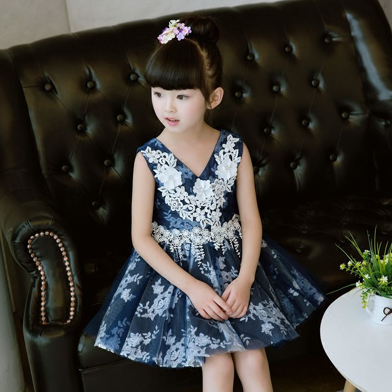 Summer New Costume Dress For Girls 2017 Princess Wedding Party Dresses Girl Clothes 3~15Years Dress Bridesmaid Children Clothing new summer christmas costume bow girl party dress wedding birthday girls dresses tutu style princess clothes for children 3 8t page 7